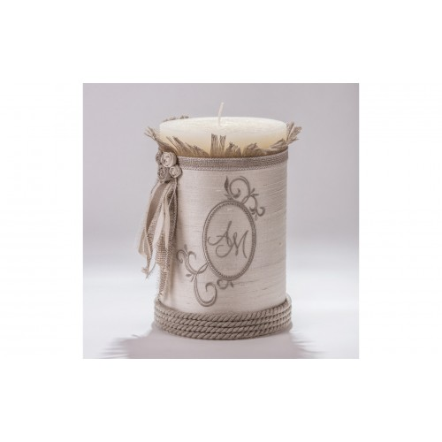 Decorative Candle with monograms C.1525.095.0305