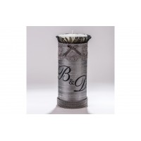 Decorative Candle with monograms C.1230.085.0311