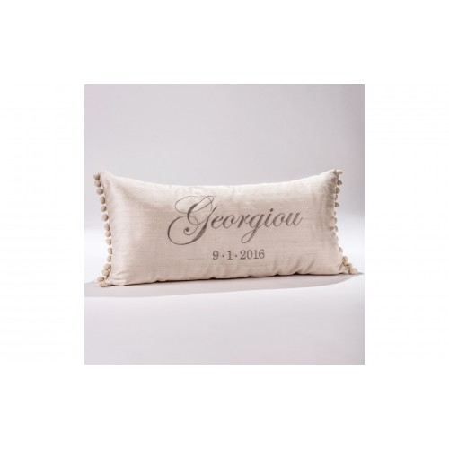 Decorative Pillow with embroidered the last name  P.5528.040.0336