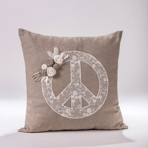 "Decorative Pillow  ""Peace"""