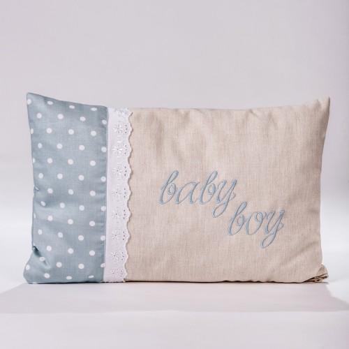 "Decorative pillow ""Baby boy"" P.4025.030.0356"