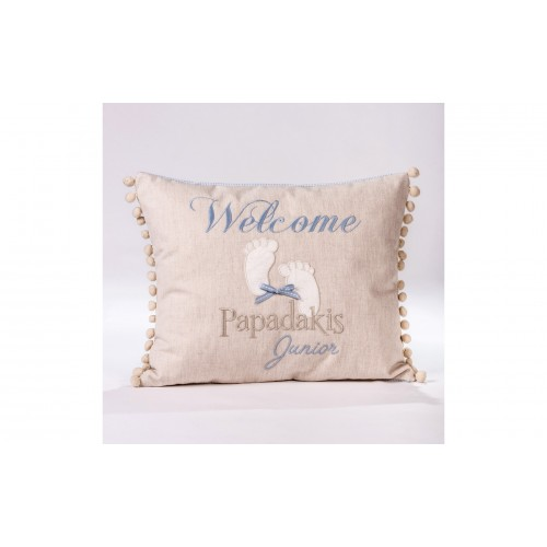 "Decorative pillow ""Welcome"""