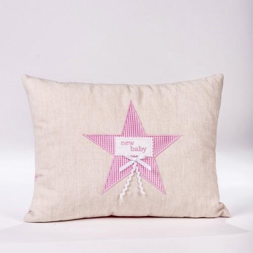 "Childish Decorative pillow ""New baby"""
