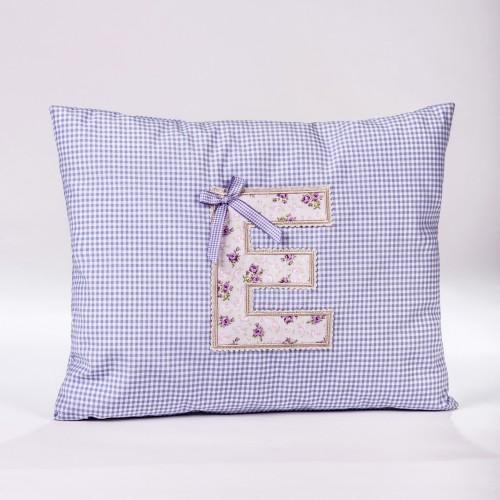 Decorative pillow with monogram